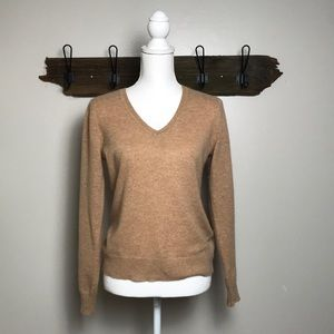 Cashmere Sweater V Neck Lord & Taylor Camel
